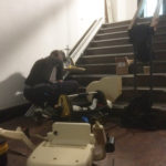 Stairlift being assembled