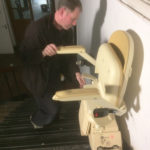 Stairlift in motion