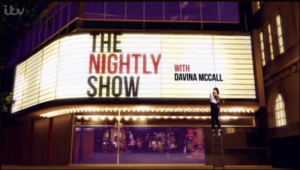 The Nightly Show, large sign