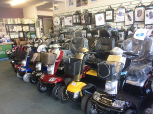 Scooters available at 1st Step Mobility