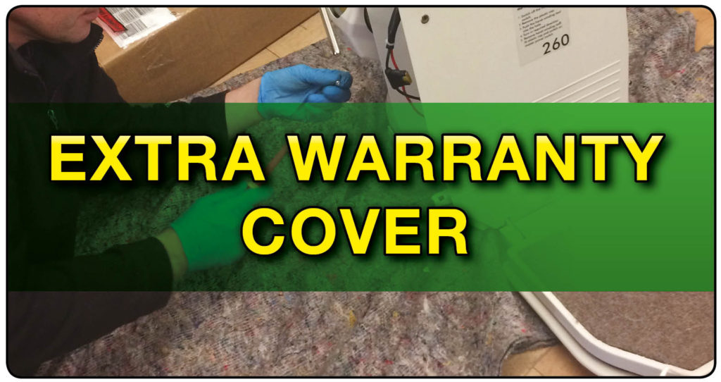 Extra warranty cover sticker