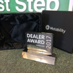 Dealer award on display