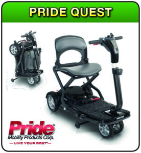 Pride Quest mobility scooter