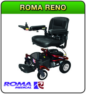 Roma Reno powerchair at 1st step Mobility