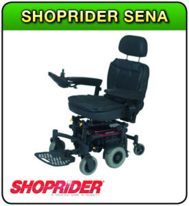 Shoprider Sena powerchair at 1st Step Mobility