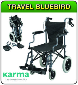 Travel Bluebird wheelchair at 1st Step Mobility