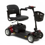 A red and black travel scooter is a popular product for those searching for mobility equipment in Essex.