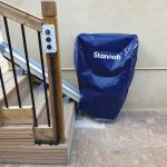Outdoor stairlift with cover